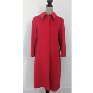 VINTAGE Red Wool Cashmere Angora Peacoat size 6